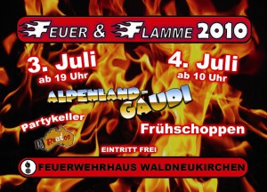 Flyer Feuer & Flamme 2010